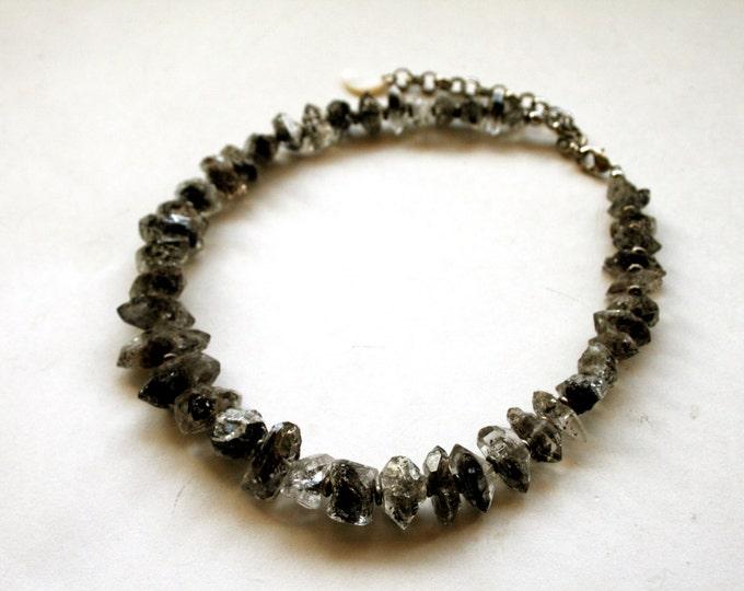 Herkimer Diamond Choker Necklace // Double Terminated Herkimer Diamond Quartz Crystal Choker