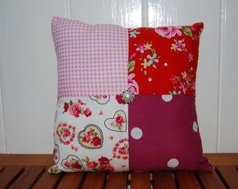 """8"""" (20cm x 20cm) Vintage Patchwork Floral Cushion"""