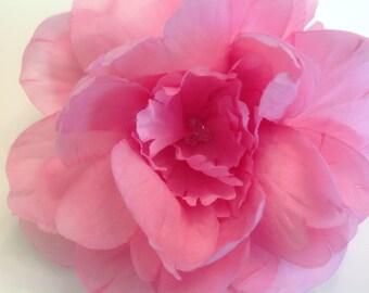 Pink Peony Bridal Flower Hair Pin Wedding Hair Accessory Jumbo Pink Peony Hair Pin Bridal Hair Pin Pink Peony Prom Hair Pin