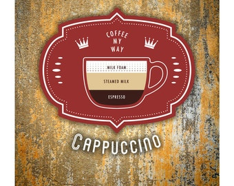 Coffee Poster by Im Different Press - Cappuccino