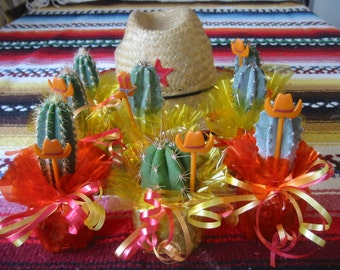 30 Mini Cactus Plant Party Favor Tex Mex Fiesta
