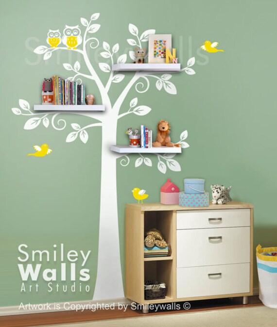 shelf tree wall decal tree wall decal shelving tree wall decal