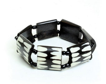 Handmade Afrocentric Bone Bracelet