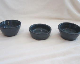 Set of 3 blue Trinket Bowls