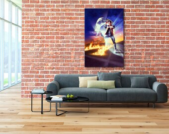 Marty McFly, Back to the Future, DeLorean, Back to the Future canvas, DeLorean canvas, Back to the Future print, DeLorean print, DeLorean