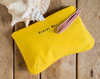 Bikini Bag, water resistant in yellow
