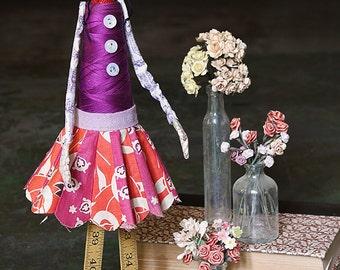 Edwina - Handmade Papier Mache Found Object Doll by Paula Joerling