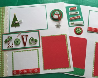 premade scrapbook pages    premade album pages    12 by 12    Christmas    scrapbook pages    Christmas pages