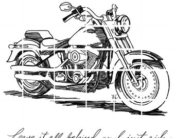 Just ride motorcycle (with and without mountains) - instant download digital stamps by Tierra Jackson