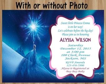 Frozen Baby Shower Invitation, Frozen Baby Shower, Elsa Baby Shower Invitation , Frozen Ultrasound Invitation, Frozen Sonogram