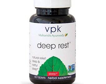 Deep Rest | 60 Herbal Tablets | Natural Support for Uninterrupted & Restful Sleep