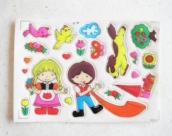 Vintage Japanese Stickers! - Alpine Romance!