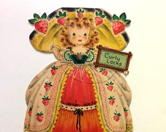 Vintage 1947 Hallmark Doll Card Curly Locks Doll Card Collectable Doll No. 14 Card