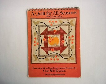 A Quilt for All Seasons 1983 Calendar Featuring 12 Wall Quilts Designed and Made by Chris Wolf Edmonds, Quilt Ideas, Frameable Quilt Images