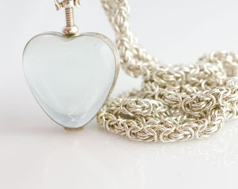 Ultimate Sweetheart Locket Necklace - Sterling Silver Byzantine