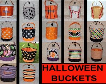 Halloween bag,  Halloween bucket, Beach tote, treat or trick bag, Sand bucket, baby gift, TOP SELLER