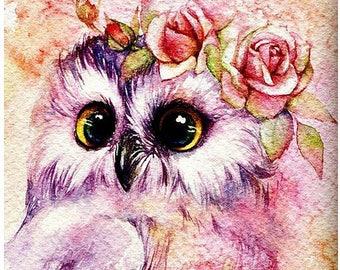 Kit art collage beads embroidery OWL diamond