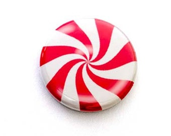 Peppermint Candy One Inch Pinback Button, Magnet, or Keychain