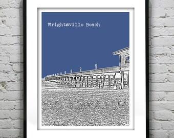Wrightsville Beach Skyline Poster Art Print North Carolina NC