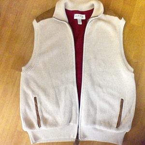 Orvis Sweater Vest, men's size Large, 100% cotton, outdoors sporty