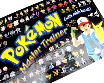 NEW Pokemon Master Trainer Game Vintage 90s Sealed Unopened Still in Shrink Wrap NIB NRFB Pikachu Ash Ketchum Japanese Anime Cartoon Video