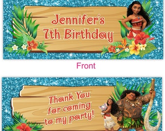 Moana Thank You, Moana Candy Bag, Topper, Moana Gift Tag, Moana Favor Label, Moana Goody Bag, Moana Birthday, Moana Party, Moana-TOPPER11