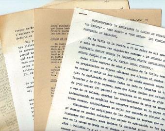 Aged typewritten pages - 6 Ephemera paper