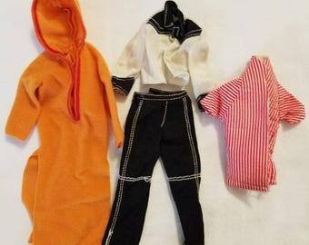 4 Pieces Vintage Retro Ken Barbie Doll Clothes early 1980s