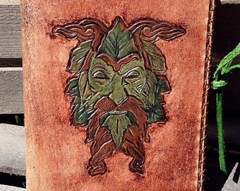 The Green Man Leather Notebook
