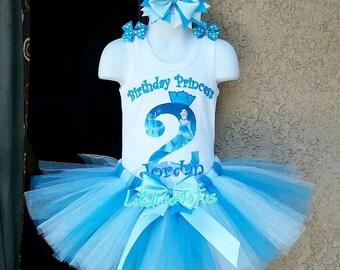 Cinderella tutu set / Cinderella birthday outfit / Cinderella birthday shirt / Cinderella tutu outfit / Princess Cinderella birthday tutu