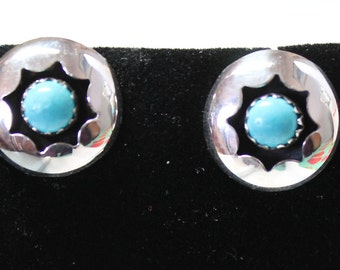 Sterling Silver and Turquoise Post Earrings