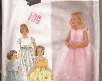 Simplicity 9147 Child Dress and Jacket Pattern Size AA (3-4-5) Circa 2000