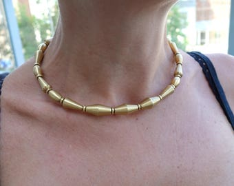 Jewelry Necklace Gold Choker Unique Gold Necklace Geometric Gold Nacklace Different & Unusual Gold Nacklace Handmade Nacklace Anniversary