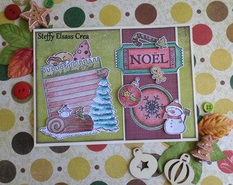 Christmas card list gift snowman