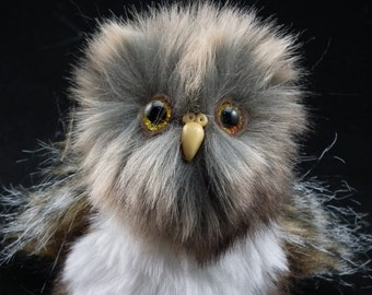 """Orion Owlet Mini 3"""" Soft Sculpture Artist Baby Owl OOAK by Bramber Bears introductory offer"""