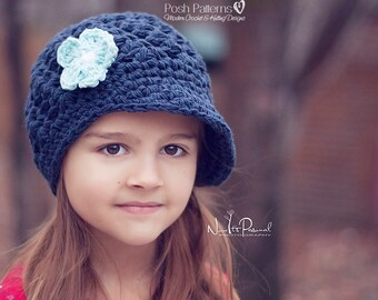 Crochet Newsboy Hat PATTERN - Crochet Pattern - Crochet Hat Pattern - Crochet Pattern Hat (Baby - Adult Sizes) - Instant PDF Download 404
