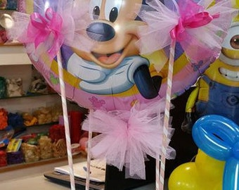 balloon decor with themed balloon with basket empty for 18 years first birthday christening wedding graduate fellowship