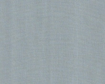 "Solid ""fog"" blue fabric by Kona cottons at Kaufman"