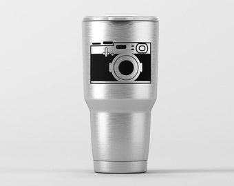 Vintage Camera (Style 1) / Yeti Decal / Vinyl Decal / Yeti Tumbler Decal / Yeti Cup Decal / RTIC / *Tumbler Available *