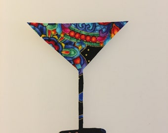 Martini Glass Iron-on Patch