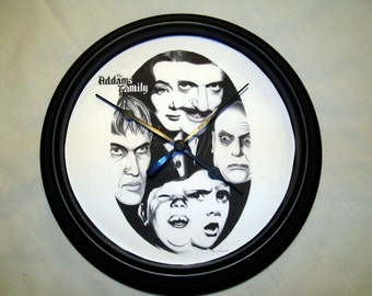 The Addams Family wall clock - Original Graphite Portrait