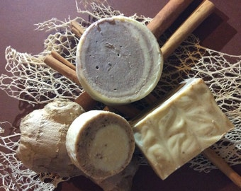 bar of SOAP with ginger and cinnamon, decorative