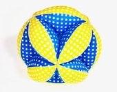 Segmented Fabric Ball, Fabric Stuffed Ball, Fabric Ball, Segmented Ball, Stuffed Segmented Ball,Baby Gift, Holiday Baby Gift, Gift for Baby