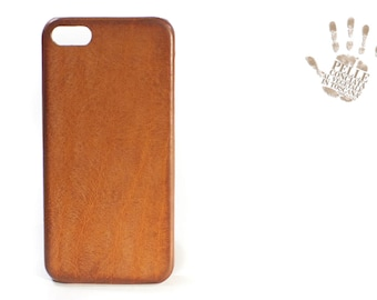 Iphone Leather Case genuine natural lether for 5S 5C 4S to use as protection colour natural