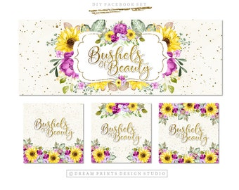 Premade DIY Facebook Set | Facebook Kit | Premade Facebook Set | Shop Graphics | Facebook Business Set | Graphics | INSTANT DOWNLOAD