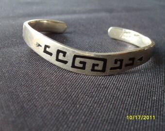 Sterling Silver Bangle Bracelet, Sterling Jewelry,  Fashion Jewelry Southwest Jewelry, Sterling Bracelet