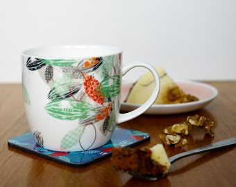 "White ""Scatter"" Fine Bone China Mug"