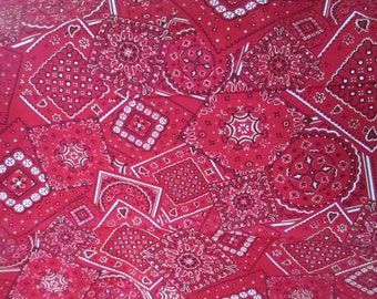 Red Bandana Fabric - Moda - 15490 40 - Western Fabric - Cowboy