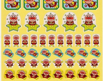 Anpanman Stickers - Large Sheet - Reward Stickers Style 1 - Reference A6490