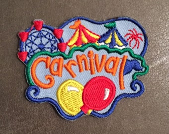 Carnival Merit Badge Fireworks Balloons Circus Tent Flags Ferris Wheel Scout Patch